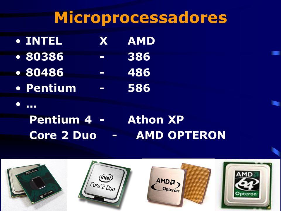 Microprocessadores INTELXAMD 80386-386 80486-486 Pentium-586...