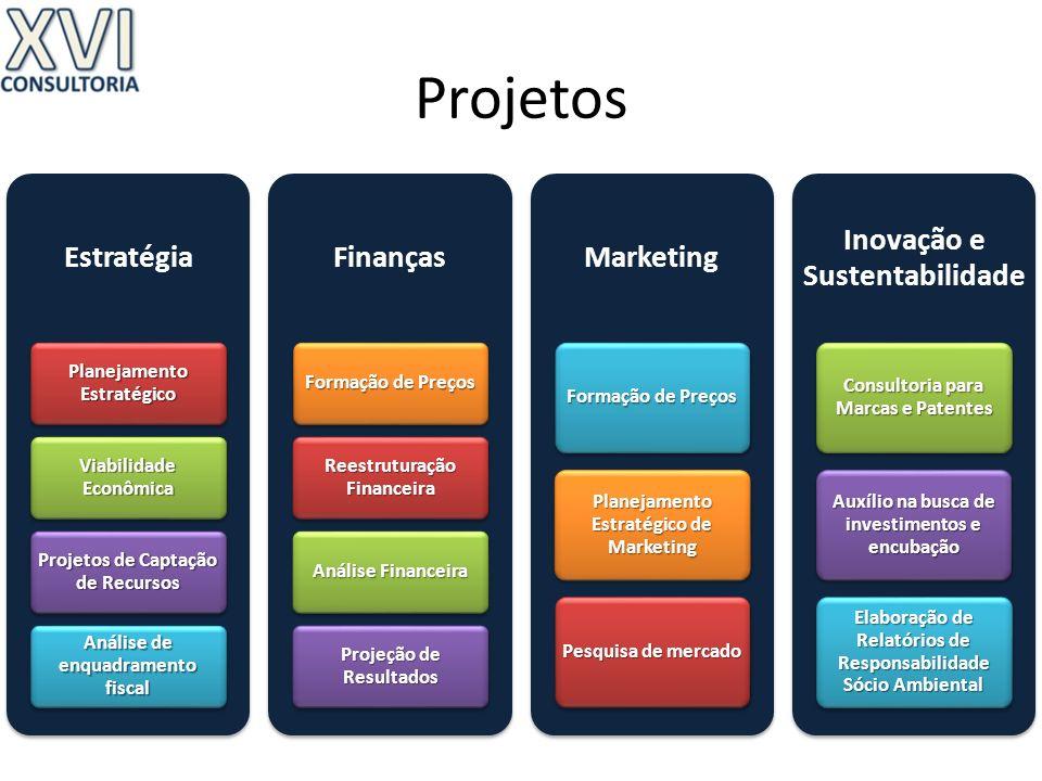 Projetos Estratégia Planejamento Estratégico Viabilidade Econômica Projetos de Captação de Recursos Análise de enquadramento fiscal Finanças Formação