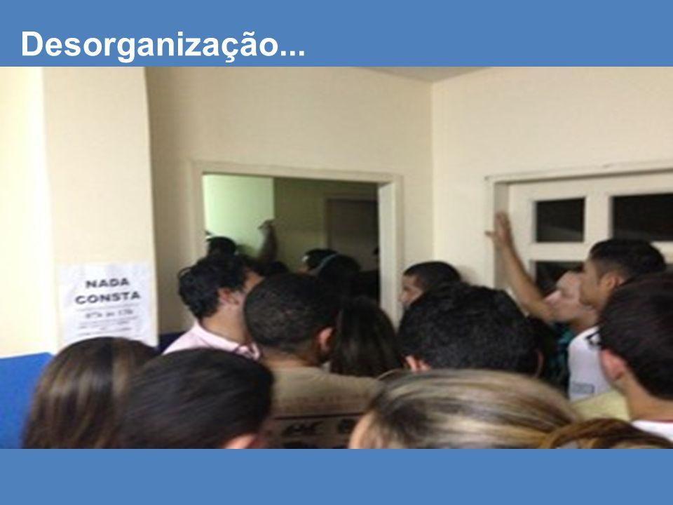 Desorganização...