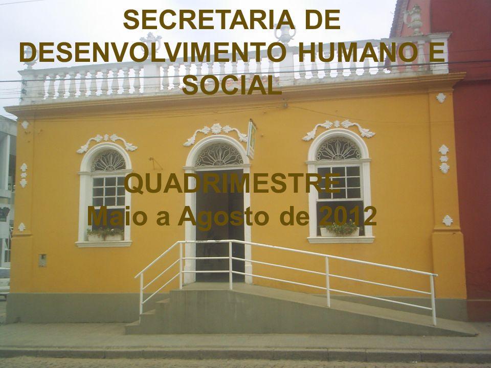 SECRETARIA DE DESENVOLVIMENTO HUMANO E SOCIAL QUADRIMESTRE Maio a Agosto de 2012