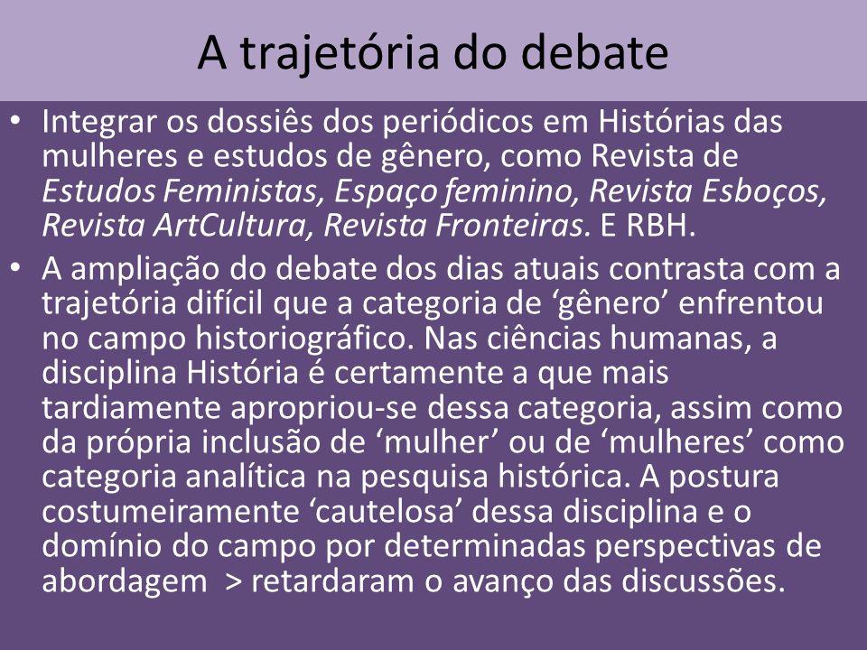 A trajetória do debate Integrar os dossiês dos periódicos em Histórias das mulheres e estudos de gênero, como Revista de Estudos Feministas, Espaço fe