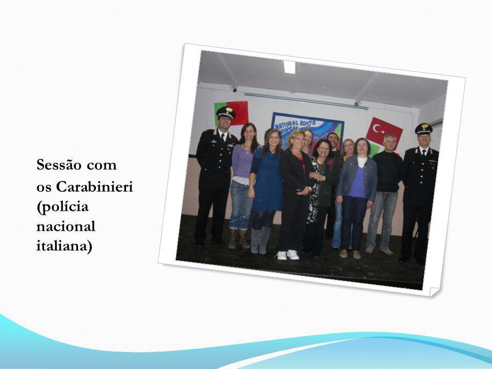 Sessão com os Carabinieri (polícia nacional italiana)