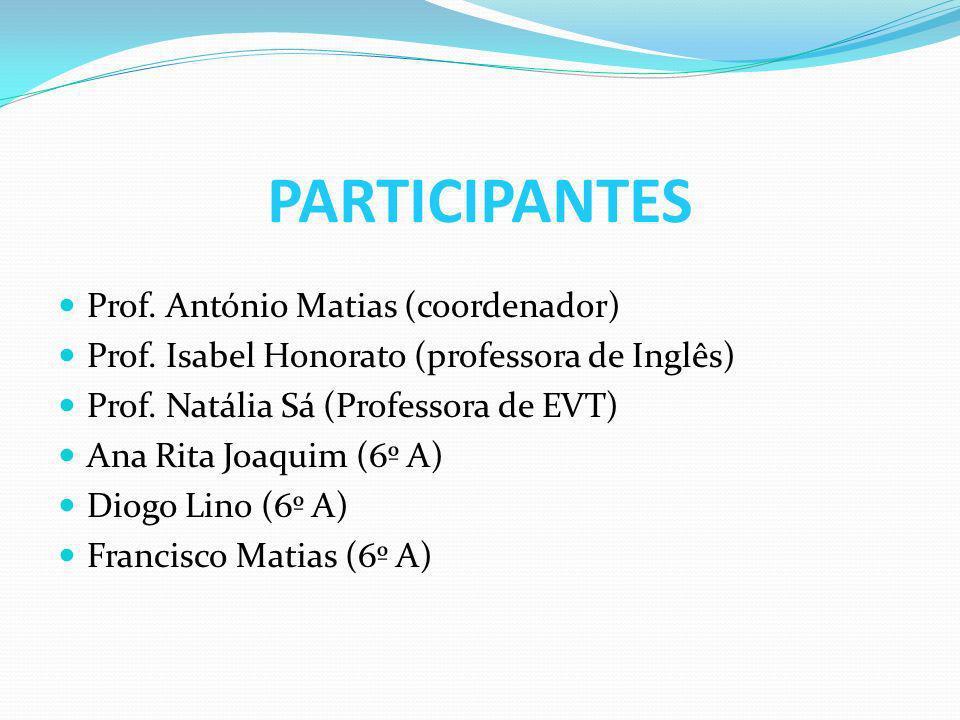 PARTICIPANTES Prof. António Matias (coordenador) Prof.
