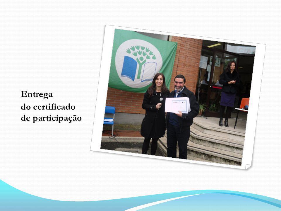 Entrega do certificado de participação
