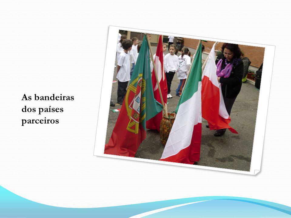 As bandeiras dos países parceiros