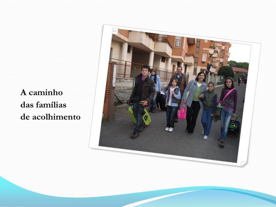 A caminho das famílias de acolhimento