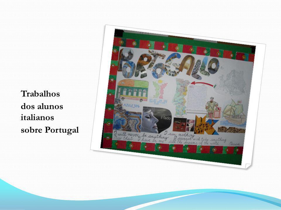 Trabalhos dos alunos italianos sobre Portugal