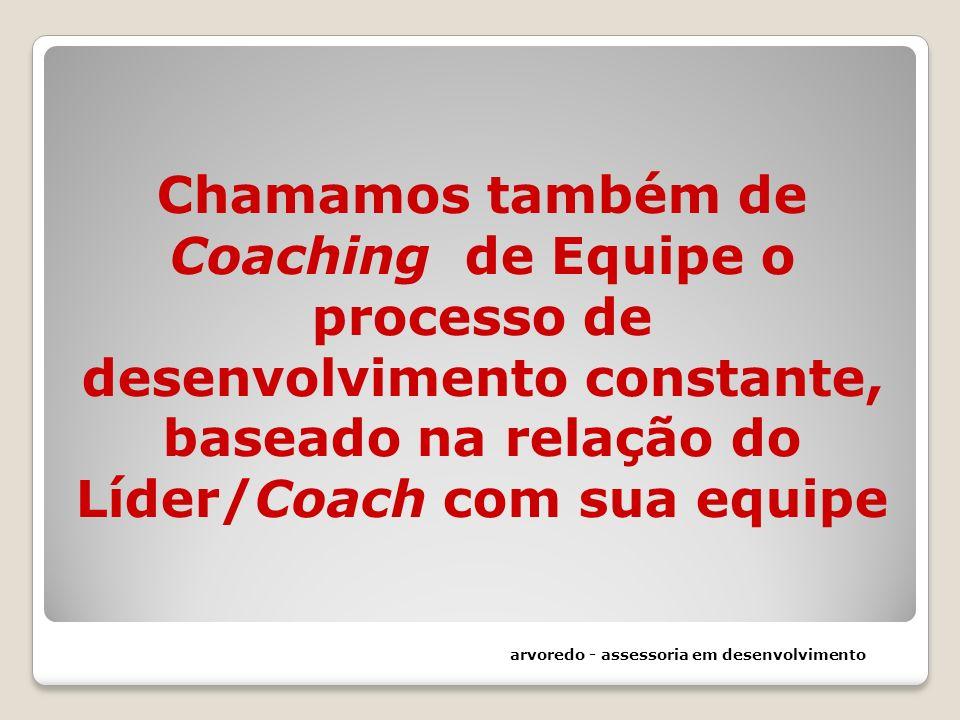 Chamamos também de Coaching de Equipe o processo de desenvolvimento constante, baseado na relação do Líder/Coach com sua equipe arvoredo - assessoria