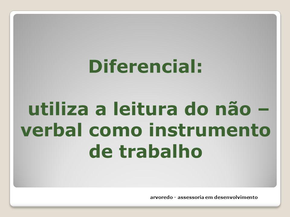 Diferencial: utiliza a leitura do não – verbal como instrumento de trabalho arvoredo - assessoria em desenvolvimento