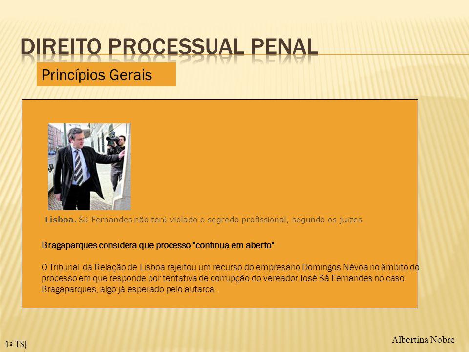 Albertina Nobre 1º TSJ Tribunal rejeitou recurso interposto por Domingos N é voa Lisboa. S á Fernandes não ter á violado o segredo profissional, segun