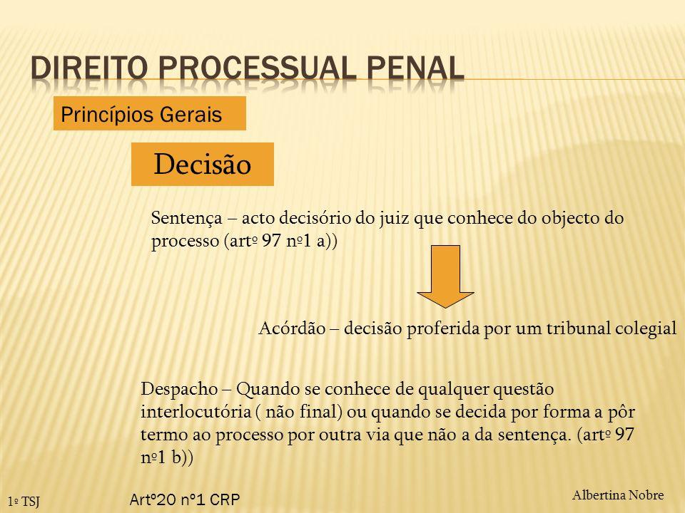 Albertina Nobre1º TSJ Efeitos dos recursos – artº408º e sgs CPP Princípios Gerais Com que efeito sobe o recurso.