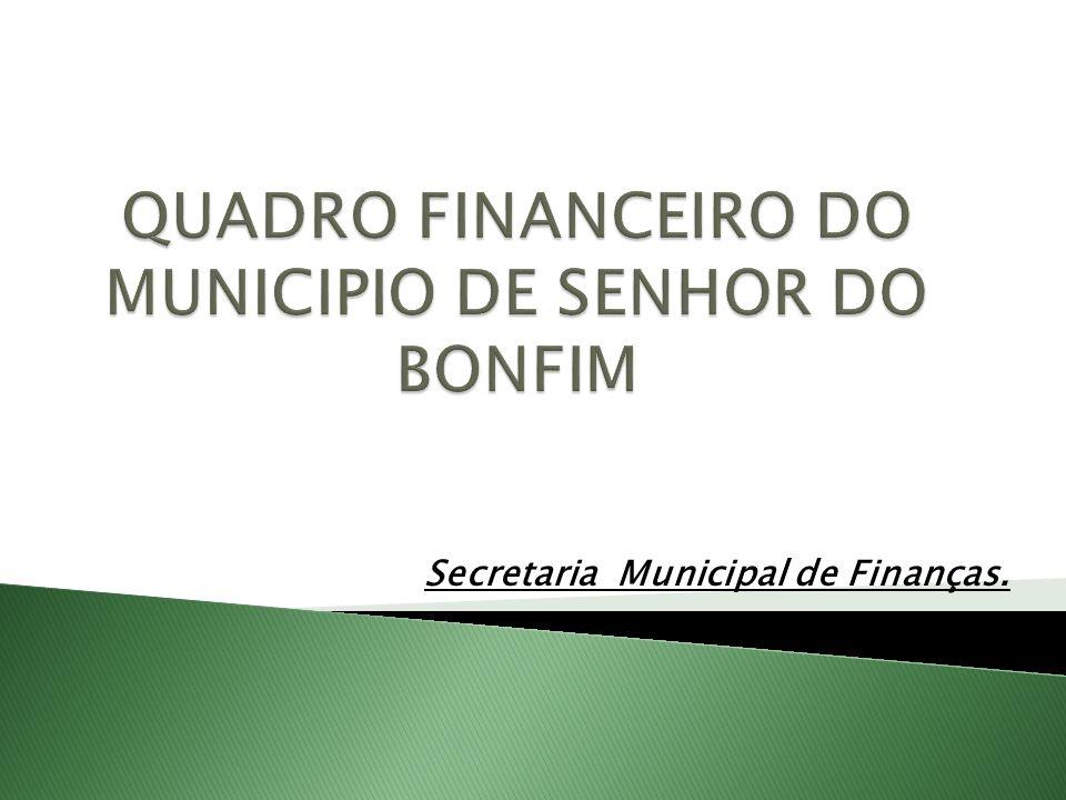 Secretaria Municipal de Finanças.