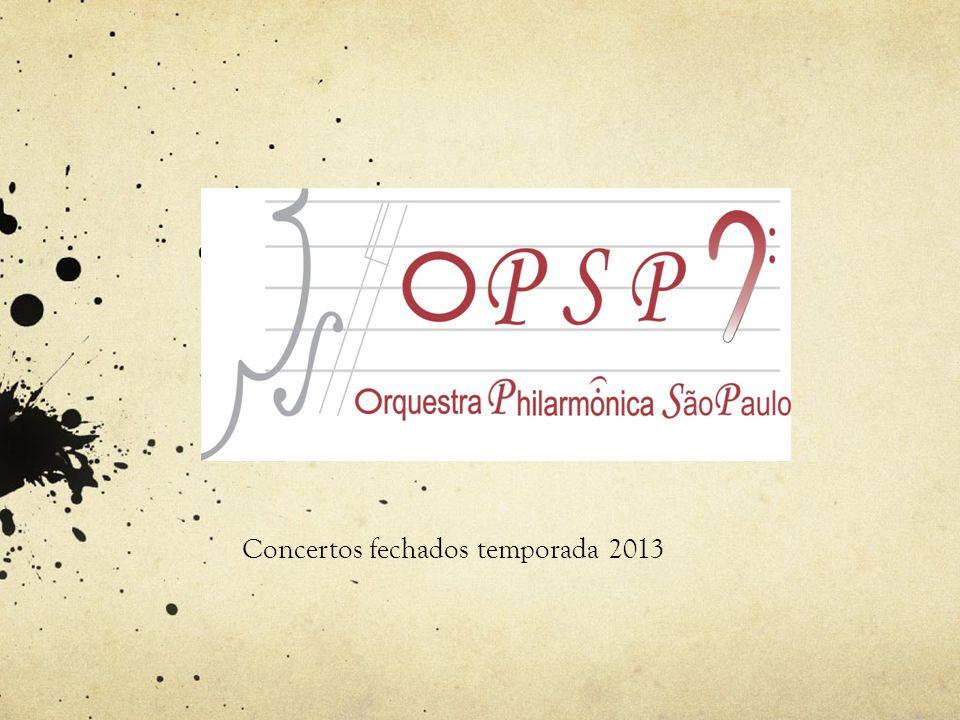 Concertos fechados temporada 2013