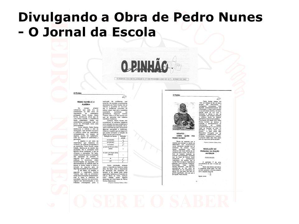 Divulgando a Obra de Pedro Nunes - O Jornal da Escola