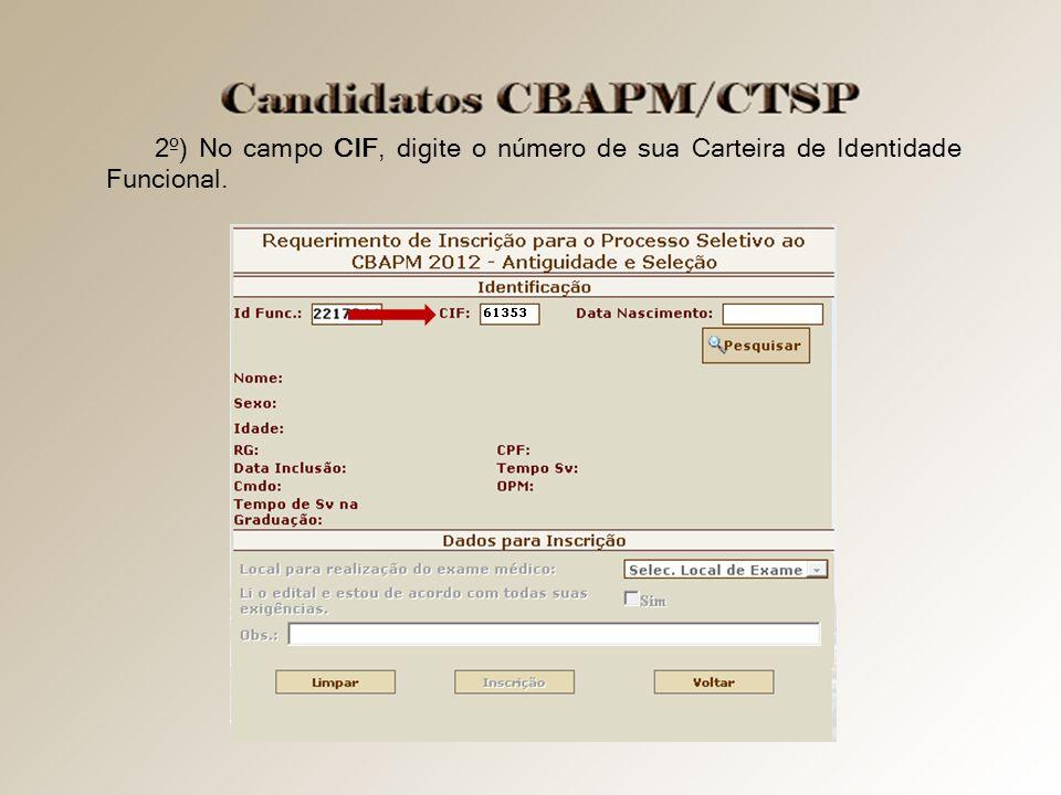 3º) No campo Data Nascimento digite sua data de nascimento no formato dd/mm/aaaa.