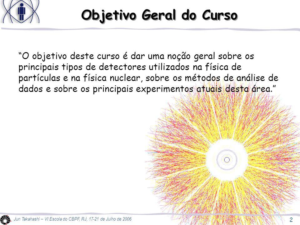 3 Jun Takahashi – VI Escola do CBPF, RJ, 17-21 de Julho de 2006 Índice: Aula 01: Revisão sobre a Física de Partículas e noções básicas sobre aceleradores.