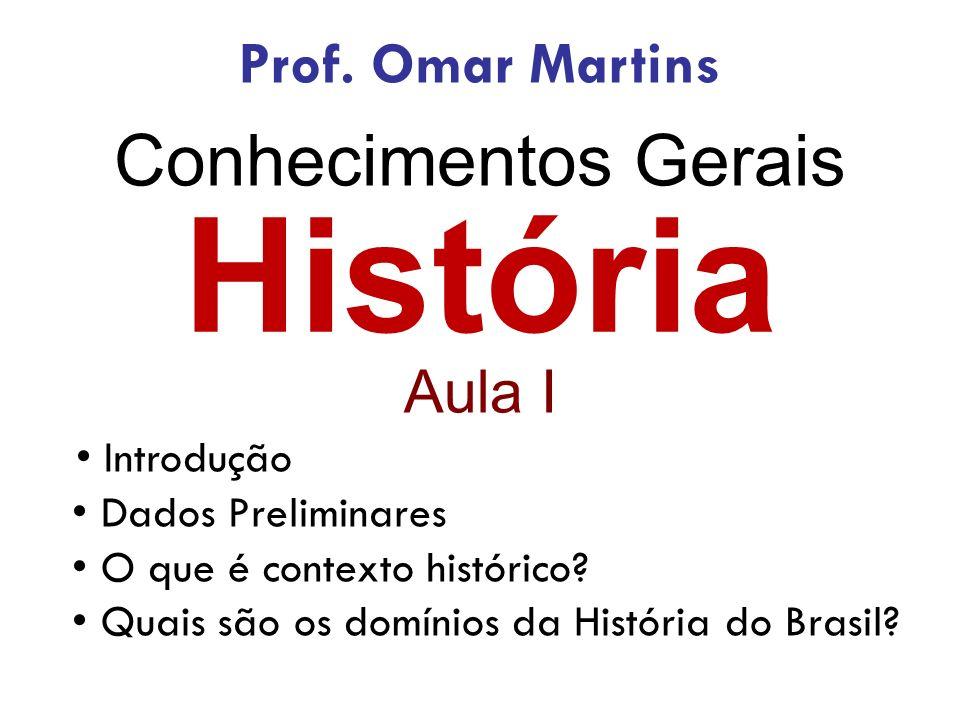 História Aula I Introdução Dados Preliminares O que é contexto histórico.