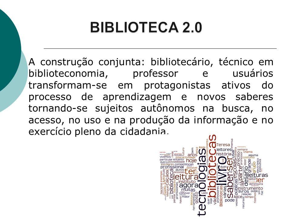 A construção conjunta: bibliotecário, técnico em biblioteconomia, professor e usuários transformam-se em protagonistas ativos do processo de aprendiza