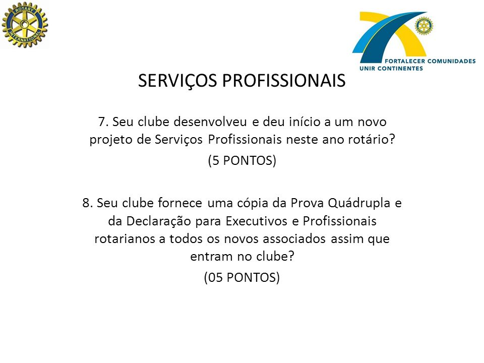 SERVIÇOS PROFISSIONAIS 7.