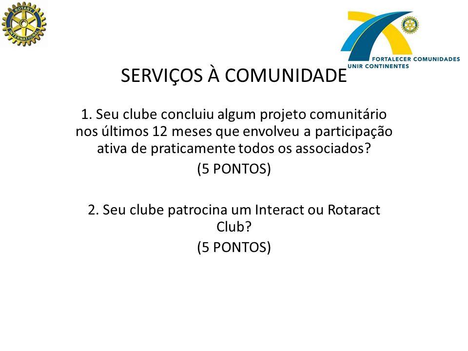 SERVIÇOS À COMUNIDADE 1.