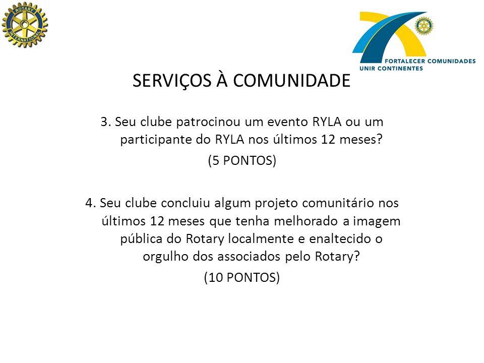 SERVIÇOS À COMUNIDADE 3.