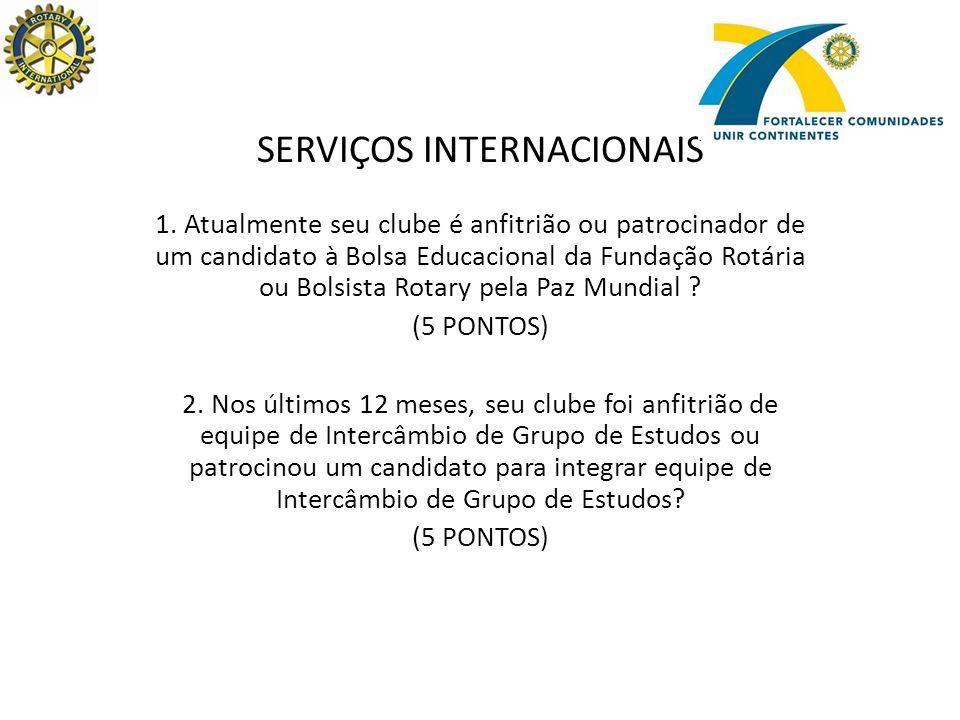SERVIÇOS INTERNACIONAIS 1.