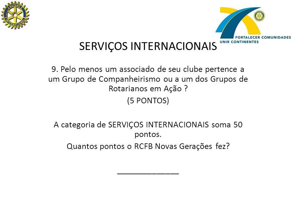 SERVIÇOS INTERNACIONAIS 9.