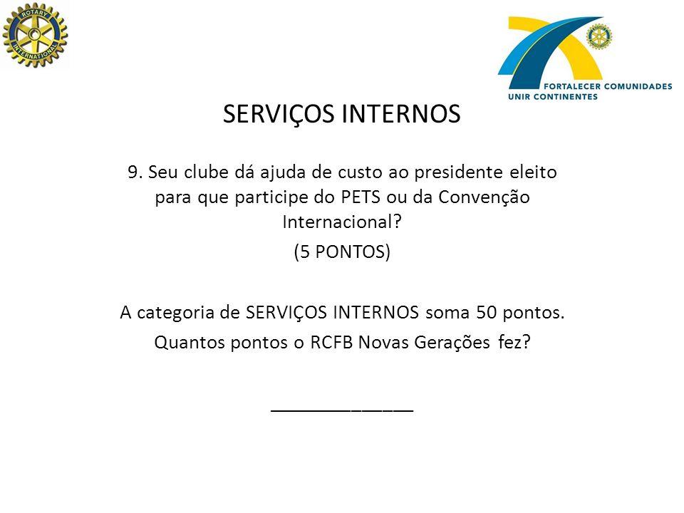 SERVIÇOS INTERNOS 9.