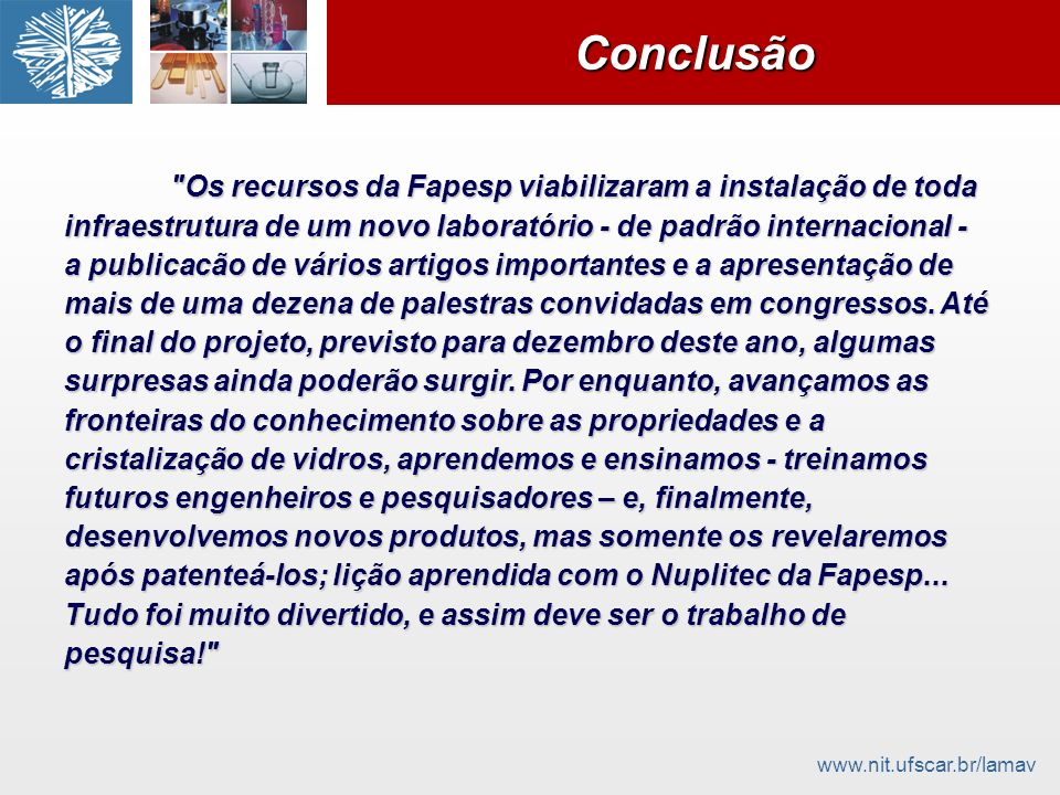 www.nit.ufscar.br/lamavConclusãoConclusão