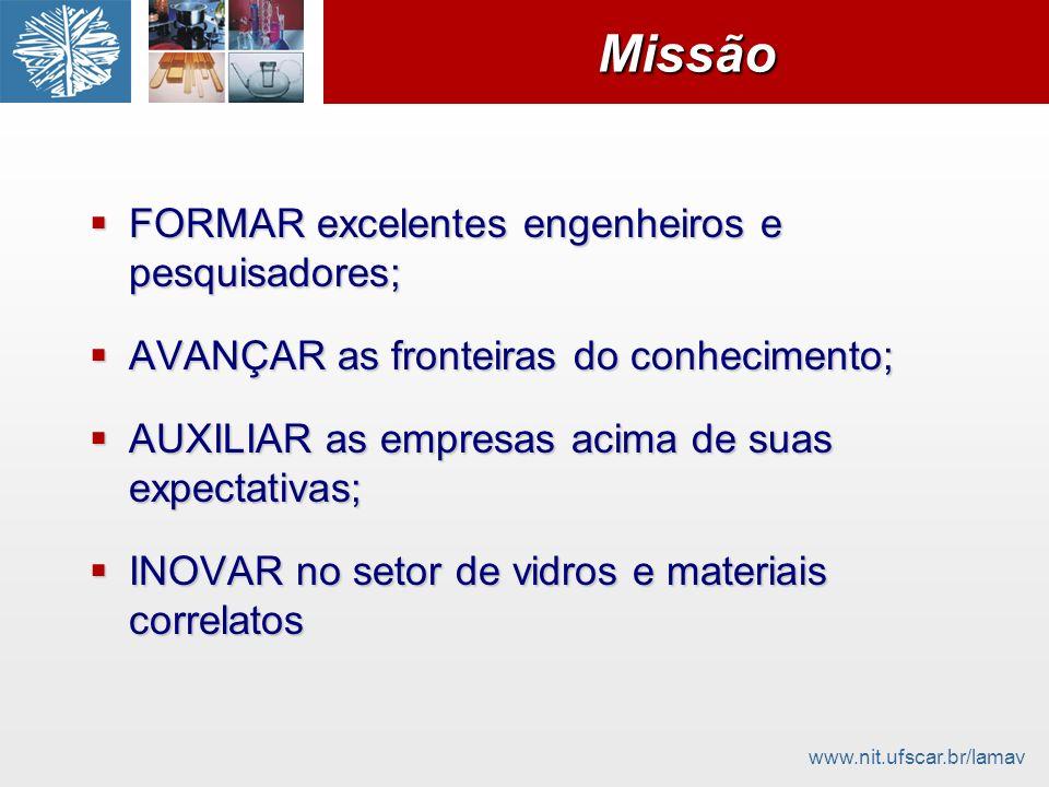 www.nit.ufscar.br/lamavMissãoMissão FORMAR excelentes engenheiros e pesquisadores; FORMAR excelentes engenheiros e pesquisadores; AVANÇAR as fronteira