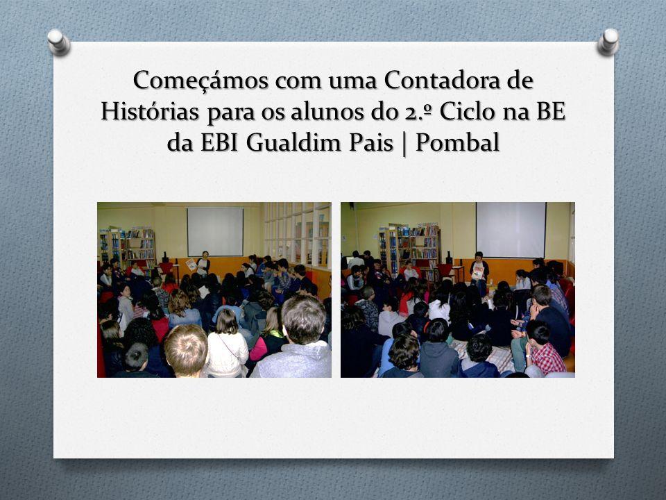 A Contadora de Histórias, Teresa Mendes com os alunos do 2.º Ciclo na BE da EBI Gualdim Pais | Pombal