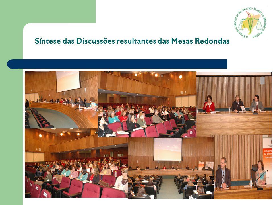 Encaminhamentos Procurar em parceria com o conjunto CFESS/CRESS realizar um levantamento da realidade do Serviço Social nos MPs.