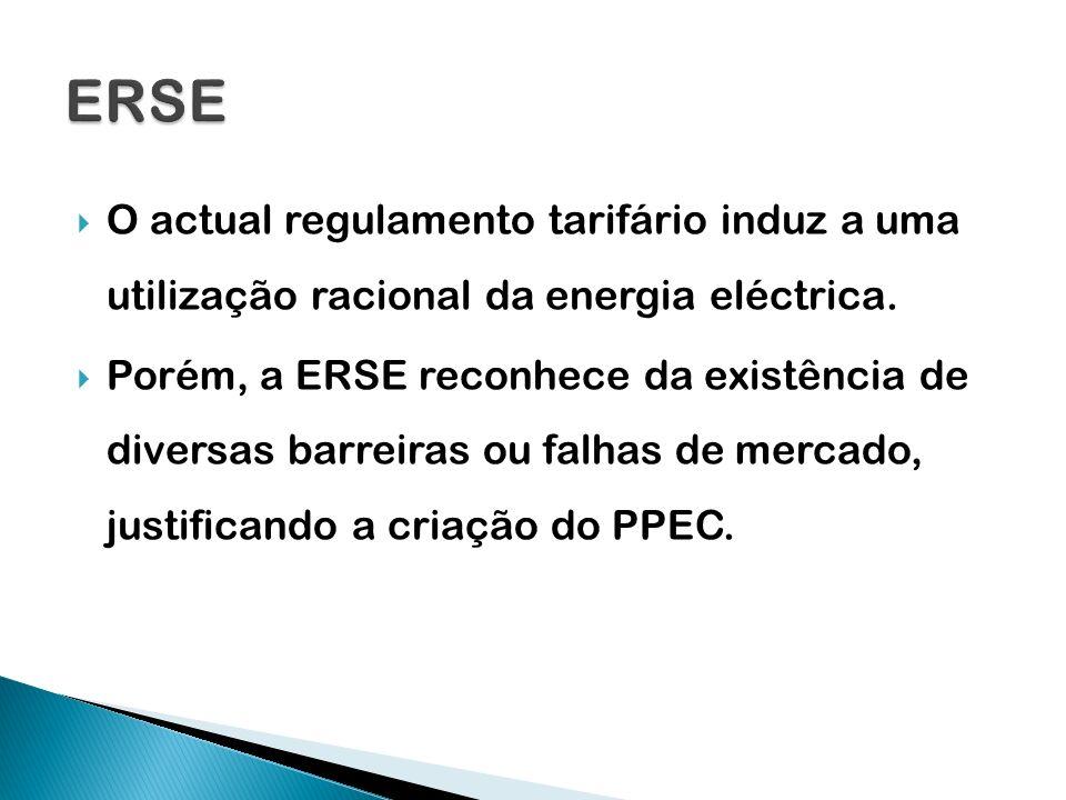 O actual regulamento tarifário induz a uma utilização racional da energia eléctrica. Porém, a ERSE reconhece da existência de diversas barreiras ou fa