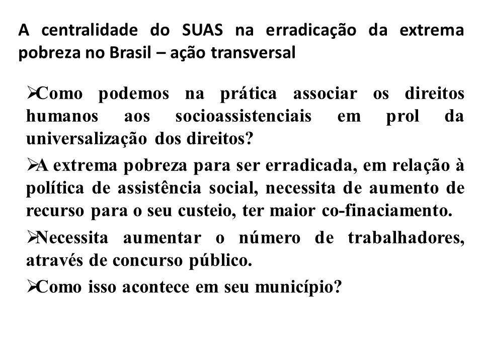 A assistência social não são das organizações tabajaras: seus problemas acabaram ! –mas uma ação transversal que depende de muitas outras áreas. A pob