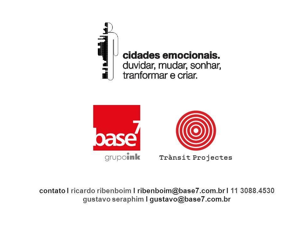 contato I ricardo ribenboim I ribenboim@base7.com.br I 11 3088.4530 gustavo seraphim I gustavo@base7.com.br