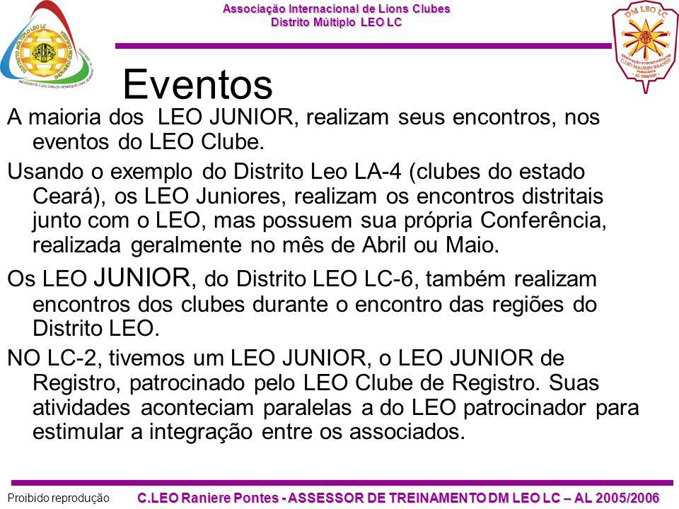 Associação Internacional de Lions Clubes Distrito Múltiplo LEO LC Proibido reprodução C.LEO Raniere Pontes - ASSESSOR DE TREINAMENTO DM LEO LC – AL 20