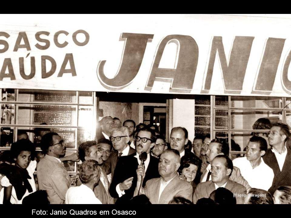 Som: fala de João Goulart em comício na Central do Brasil em 13 - 03 - 1964 Foto: João Goulart em Osasco