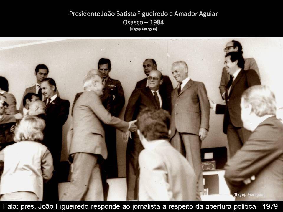 Fala: Geisel ao receber a faixa presidencial do presidente Médici