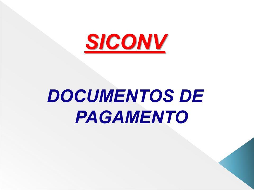 SICONV DOCUMENTOS DE PAGAMENTO