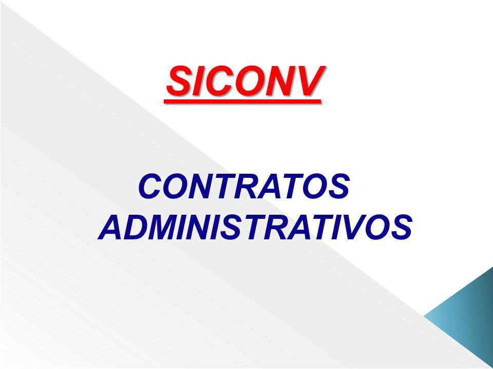 SICONV CONTRATOS ADMINISTRATIVOS
