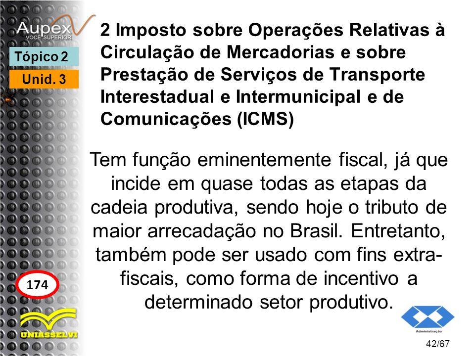 2 Imposto sobre Operações Relativas à Circulação de Mercadorias e sobre Prestação de Serviços de Transporte Interestadual e Intermunicipal e de Comuni