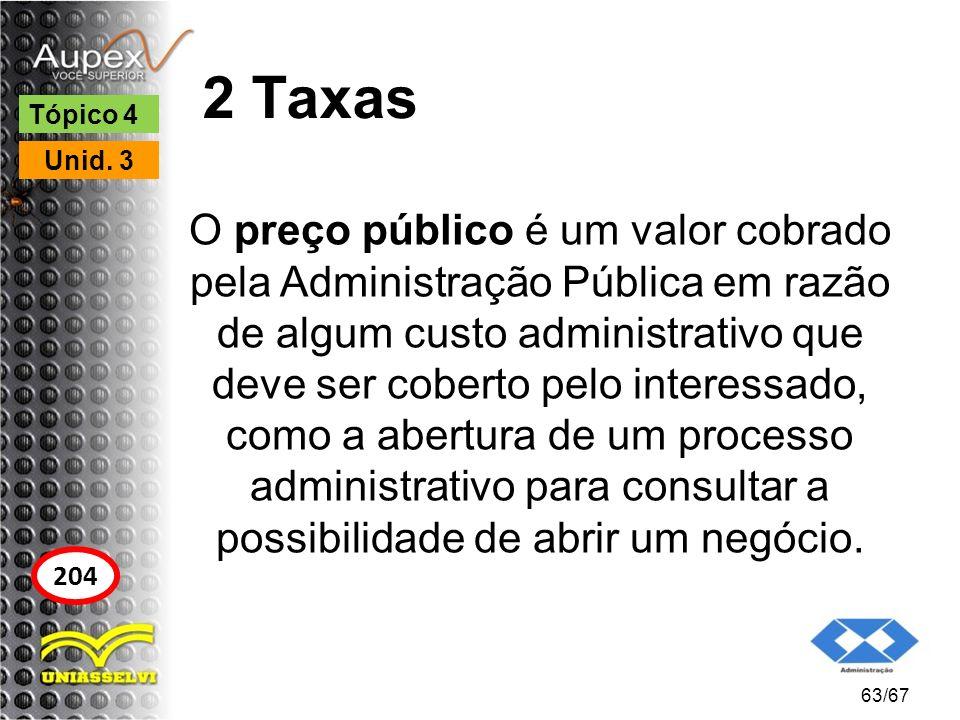 2 Taxas O preço público é um valor cobrado pela Administração Pública em razão de algum custo administrativo que deve ser coberto pelo interessado, co