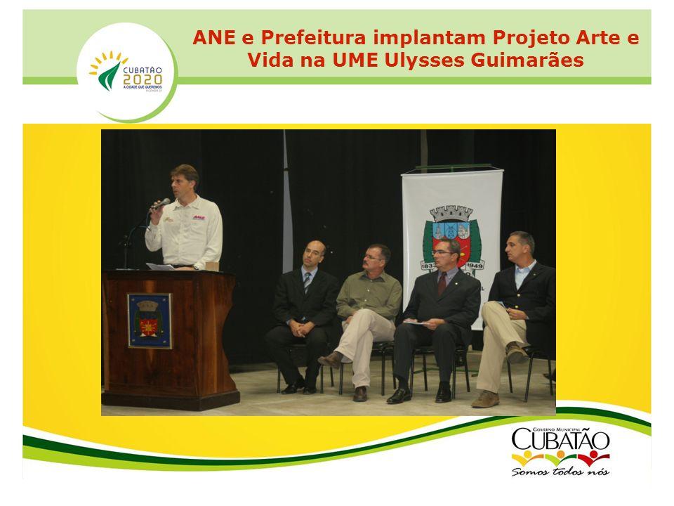 ANE e Prefeitura implantam Projeto Arte e Vida na UME Ulysses Guimarães
