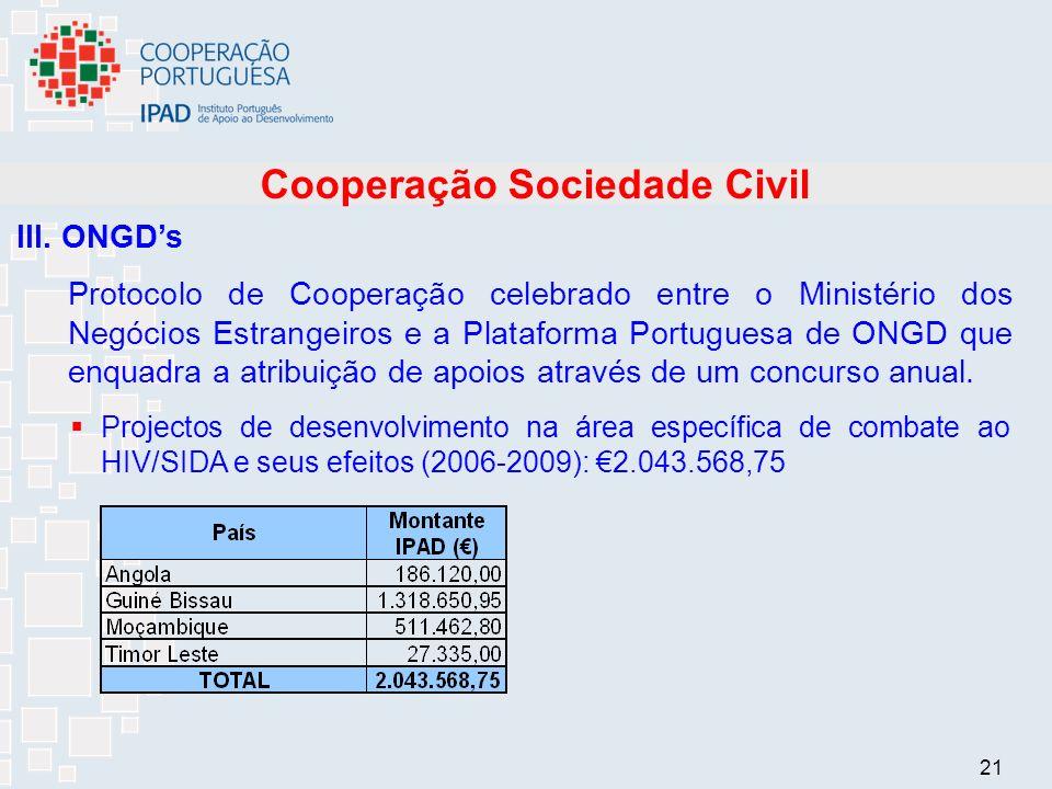 21 Cooperação Sociedade Civil III.