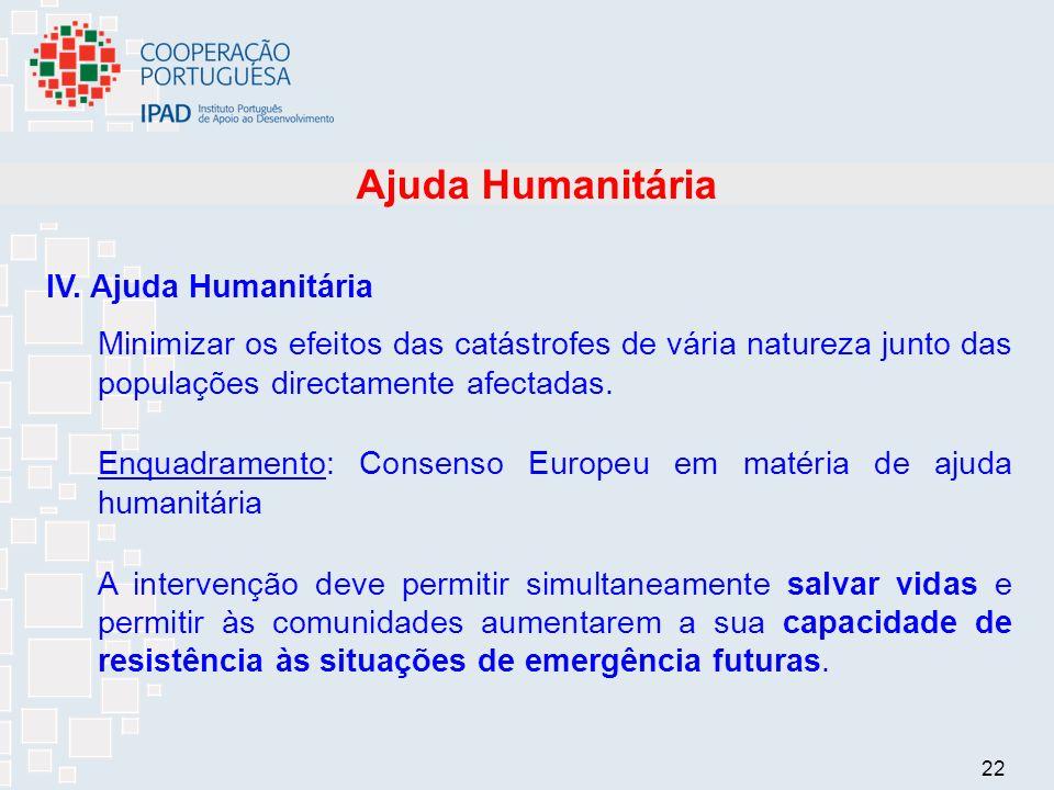 22 Ajuda Humanitária IV.