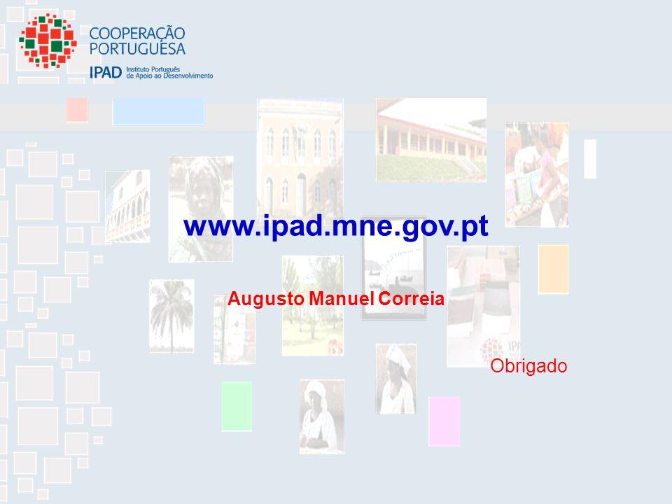 www.ipad.mne.gov.pt Augusto Manuel Correia Obrigado