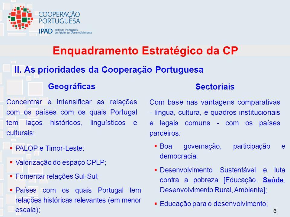 6 Enquadramento Estratégico da CP II.