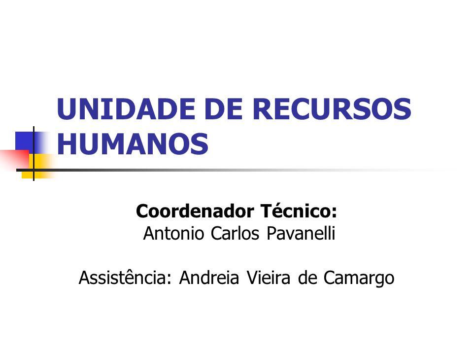 UNIDADE DE RECURSOS HUMANOS Coordenador Técnico: Antonio Carlos Pavanelli Assistência: Andreia Vieira de Camargo