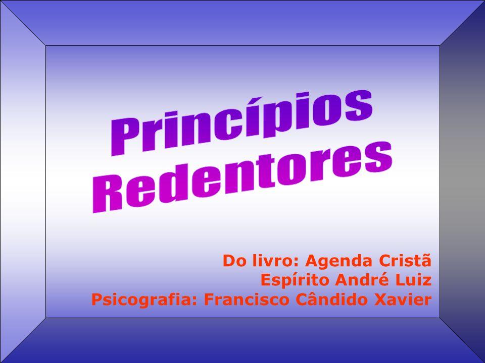 Do livro: Agenda Cristã Espírito André Luiz Psicografia: Francisco Cândido Xavier