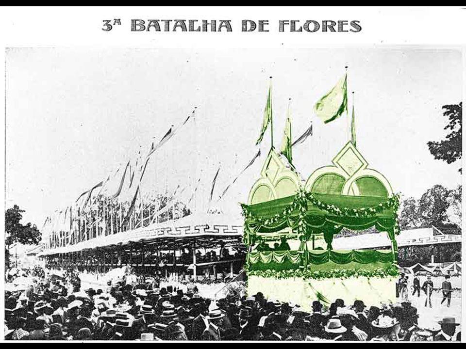 BATALHA DE FLÔRES O jornal G.N., do dia 27.11.1903, em seu artigo A Cidade, escreveu: Essas festas, de facto, não servem apenas para distrahir e alegr